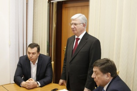Глава Краснодара Евланов и директор КТТУ Князев