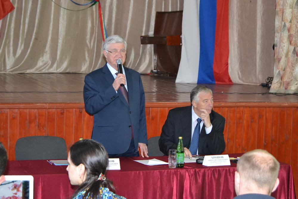 Глава Краснодара Владимир Евланов с главой Карасунского округа Хропова