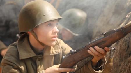 Кадр из фильма-реконструкции боёв в Краснодаре