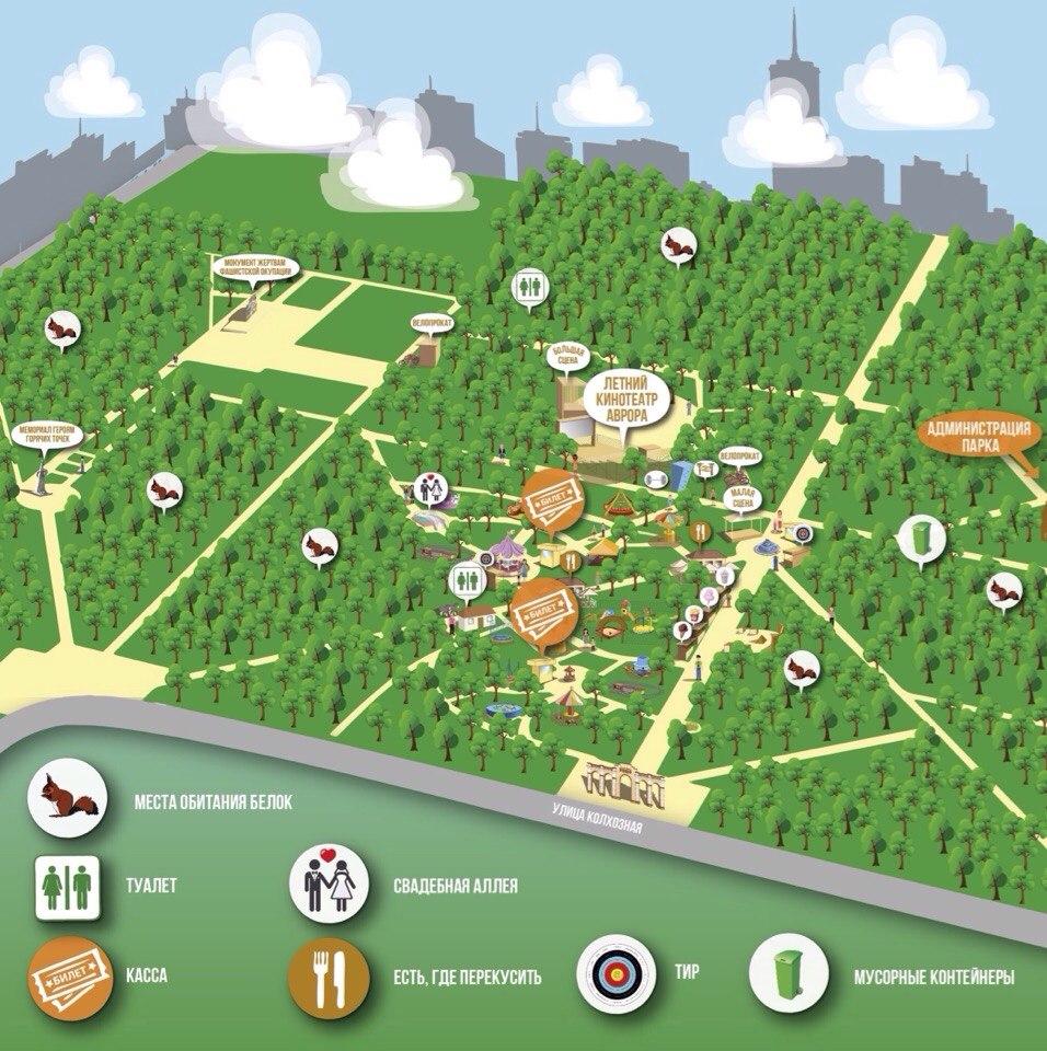 Карта Чистяковской рощи