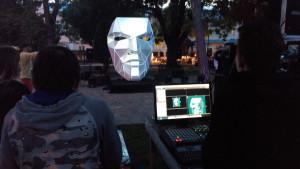 Инсталляция «Голова» и подготовка светового шоу