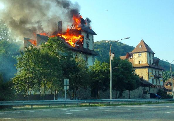 Пожар в отеле Старый Замок, Горячий Ключ
