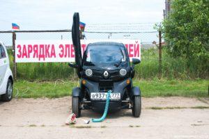 Зарядка электрокара на заводе «Ртутная безопасность» в станице Холмской